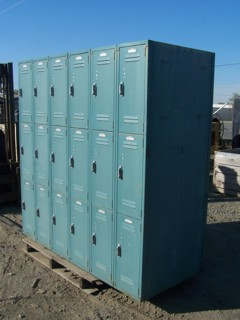 Double sided school gym lockers