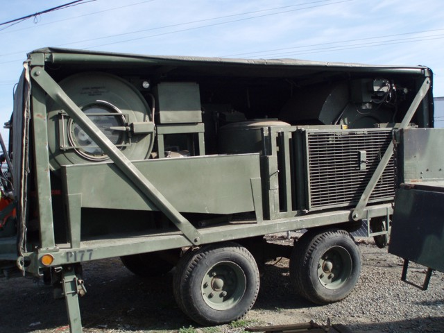 M85 Military Field Trailer Mounted Laundry Unit